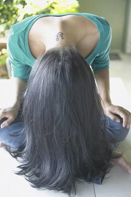 Mueva el pelo al revés
