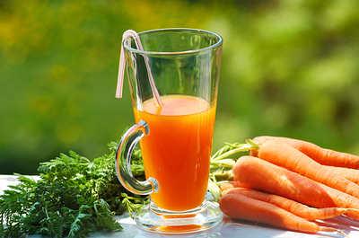 El jugo de zanahoria