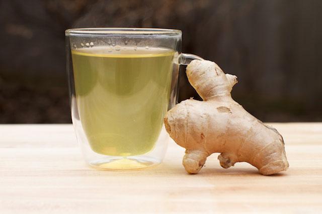 Té verde y jengibre