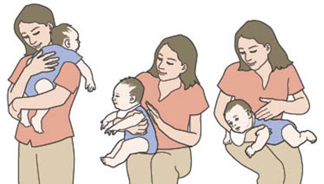 Haga eructar a su bebé