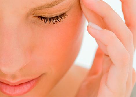 masaje de ojos