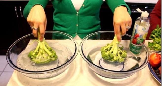 Cómo deshacerse de los pesticidas en frutas y verduras